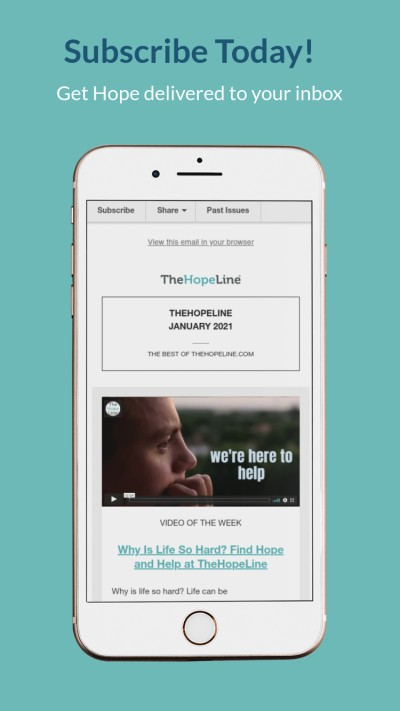 Subscribe to TheHopeLine and never miss a post. We will deliver hope for your journey every week.