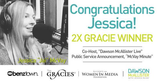 jessica wins gracie awards